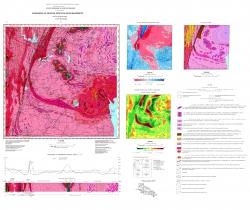 L-36-IV (Кривой Рог). Геологическая карта. Серия Центральноукраинская. Геологическая карта кристаллического фундамента