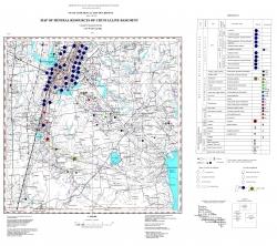 L-36-IV (Кривой Рог). Геологическая карта. Серия Центральноукраинская. Карта полезных ископаемых кристаллического фундамента