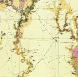 L-36-IV (Кривой Рог). Геологическая карта СССР. Серия Центральноукраинская. Карта полезных ископаемых