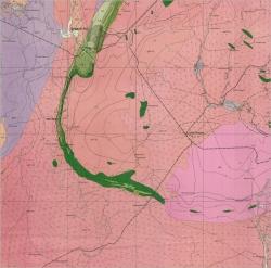 L-36-IV (Кривой Рог). Геологическая карта СССР. Серия Центральноукраинская. Карта кристаллического основания