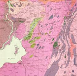 L-36-VI (Запорожье). Геологическая карта СССР. Серия Центральноукраинская. Карта кристаллического основания