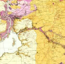 L-36-VI (Запорожье). Геологическая карта СССР. Серия Центральноукраинская. Карта полезных ископаемых
