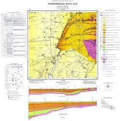 L-36-XII (Мелитополь). Геологическая карта СССР. Серия Центральноукраинская