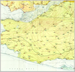 L-36-XV (Херсон). Геологическая карта СССР. Серия Причерноморская. Гидрогеологическая карта