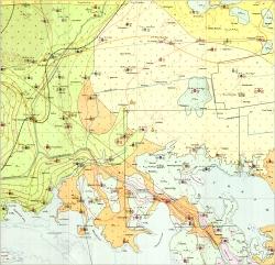 L-36-XVI (Чаплынка). Геологическая карта СССР. Серия Причерноморская. Гидрогеологическая карта