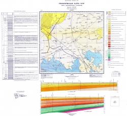 L-36-XVI (Чаплынка). Геологическая карта СССР. Серия Причерноморская