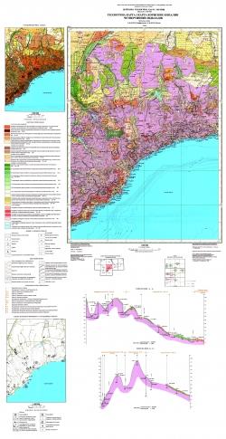 L-36-XXIX, XXXV (Симферополь, Ялта). Геологическая карта и карта полезных ископаемых четвертичных отложений. Серия Крымская