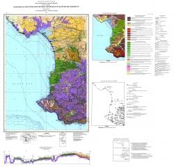 L-36-XXVIII (Евпатория), L-36-XXXIV (Севастополь). Геологическая карта полезных ископаемых четвертичных отложений. Крымская серия