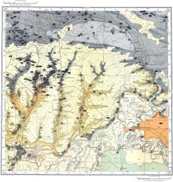 L-37-V. Карта полезных ископаемых СССР. Серия Донбасская