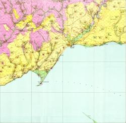 L-37-VIII (Мариуполь). Геологическая карта СССР. Гидрогеологическая карта. Центральноукраинская серия