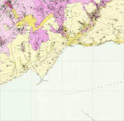 L-37-VIII (Мариуполь). Геологическая карта СССР. Карта полезных ископаемых. Центральноукраинская серия