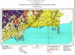 L-37-VIII (Мариуполь); L-37-IX (Таганрог). Геологическая карта и карта полезных ископаемых дочетвертичных образований. Центральноукраинская серия