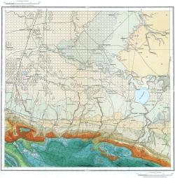 L-37-XXVII. Государственная геологическая карта СССР. Серия Кавказская