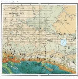 L-37-XXVII. Карта полезных ископаемых СССР. Серия Кавказская