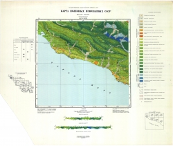 L-37-XXXIII. Геологическая карта СССР. Карта полезных ископаемых. Серия Кавказская