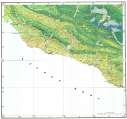 L-37-XXXIII. Государственная геологическая карта СССР. Серия Кавказская