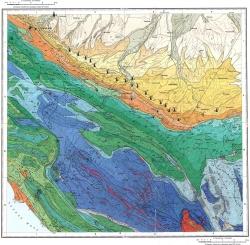 L-37-XXXIV. Карта полезных ископаемых СССР. Серия Кавказская