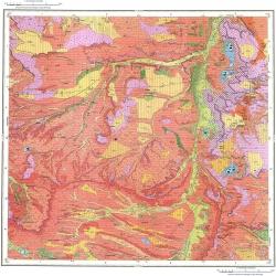 L-38-XXV. Государственная геологическая карта Российской Федерации. Карта четвертичных отложений. Издание второе. Серия Скифская