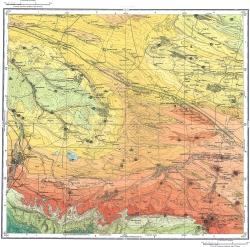 L-38-XXXI. Карта полезных ископаемых СССР. Серия Кавказская