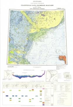 L-(38),(39)(Астрахань). Геологическая карта Российской Федерации. Карта четвертичных отложений