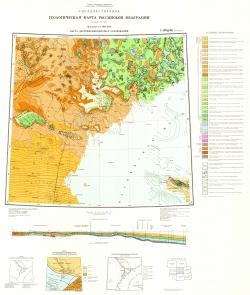 L-(38),(39)(Астрахань). Геологическая карта Российской Федерации. Карта досреднемиоценовых образований