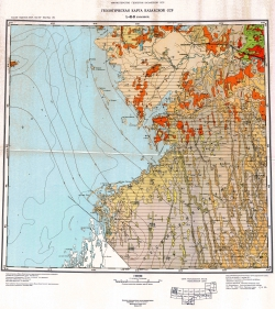 L-41-В (Казалинск). Геологическая карта Казахской ССР