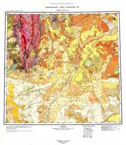 L-42-А (Джезказган). Геологическая карта Казахской ССР