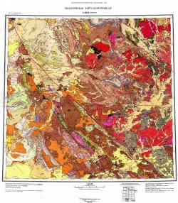 L-42-Б (Джамбул). Геологическая карта Казахской ССР
