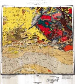 L-42-Г (свх. Тасты). Геологическая карта Казахской ССР