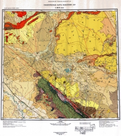 L-42-В (Чиили). Геологическая карта Казахской ССР
