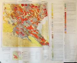 L-(42),(43) (Балхаш). Геологическая карта СССР. Карта дочетвертичных образований