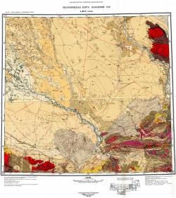 L-43-Г (Уштобе). Геологическая карта Казахской ССР