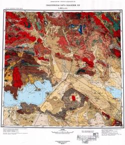 L-44-A (Аягуз). Геологическая карта Казахской ССР