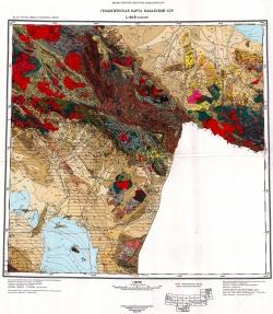 L-44-Б (Маканчи). Геологическая карта Казахской ССР