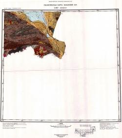 L-44-Г (Дзержинское). Геологическая карта Казахской ССР