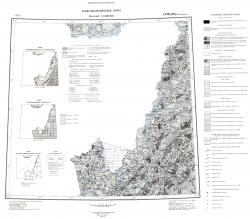 L-(52),(53) (Пограничный). Геологическая карта СССР (новая серия). Геоморфологическая карта
