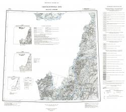 L-(52),(53) (Пограничный). Геологическая карта СССР (новая серия). Гидрогеологическая карта