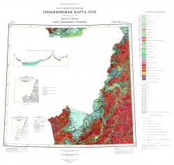 L-(52),(53) (Пограничный). Геологическая карта СССР (новая серия). Карта четвертичных отложений