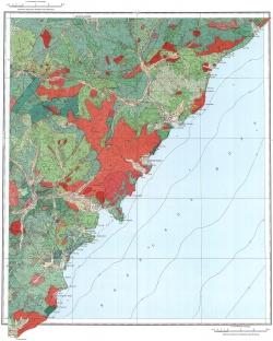 L-53-XXIX,XXX,XXXV. Геологическая карта СССР. Серия Сихотэ-Алинская
