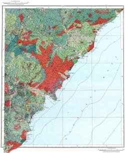L-53-XXIX,XXX,XXXV. Карта полезных ископаемых СССР. Серия Сихотэ-Алинская