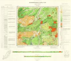 L-53-XXVIII. Геологическая карта СССР. Серия Сихотэ-Алинская
