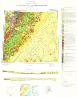 L-(53),(54)  (Кавалерово). Государственная геологическая карта СССР. Карта дочетвертичных образований