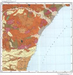L-54-VII. Геологическая карта СССР. Серия Сихотэ-Алинская