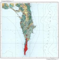 L-54-XVIII. Карта полезных ископаемых СССР. Серия Сахалинская