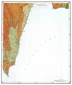 L-54-XVII,XXIII. Геологическая карта СССР. Серия Сахалинская