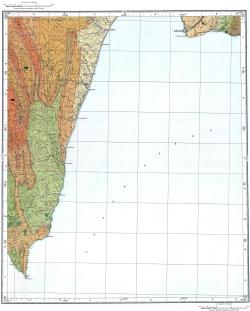 L-54-XVII,XXIII. Карта полезных ископаемых СССР. Серия Сахалинская