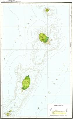 L-56-III,IV; M-56-XXXIII,XXXIV. Государственная геологическая карта Российской Федерации. Карта полезных ископаемых. Серия Курильская