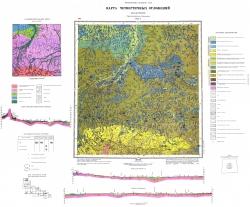 M-35-V (Лельчицы). Геологическая карта СССР. Серия Центральноукраинская. Карта четвертичных отложений