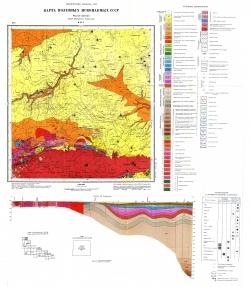 M-35-V (Лельчицы). Геологическая карта СССР. Серия Центральноукраинская. Карта полезных ископаемых