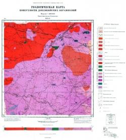 M-35-X (Олевск). Геологическая карта СССР. Серия Центральноукраинская. Карта поверхности домезозойских образований